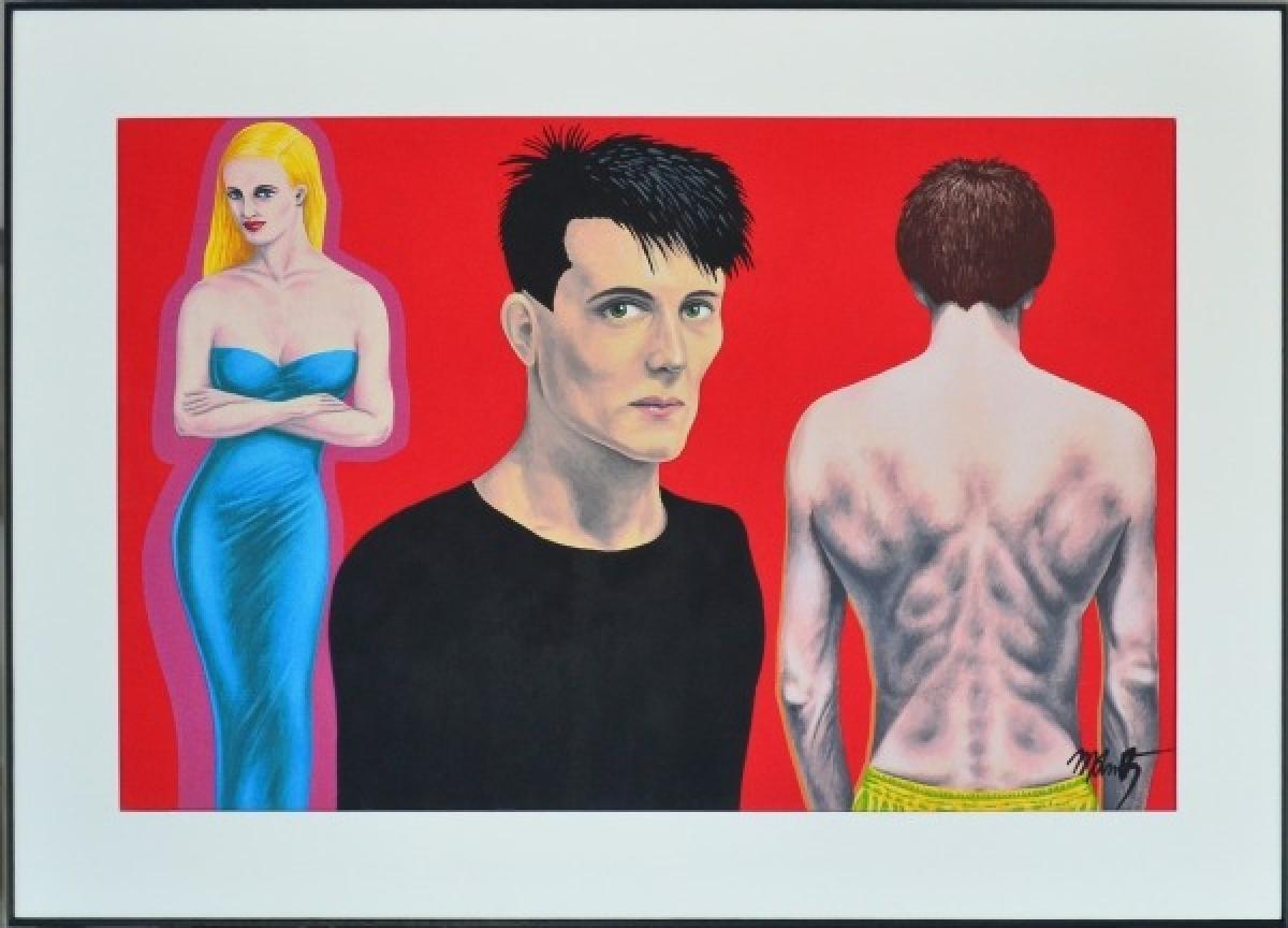 LOTE 021 - Milton Kurtz Acrílica sobre tela 48 x 74 cm  - com moldura  64 x 90 cm